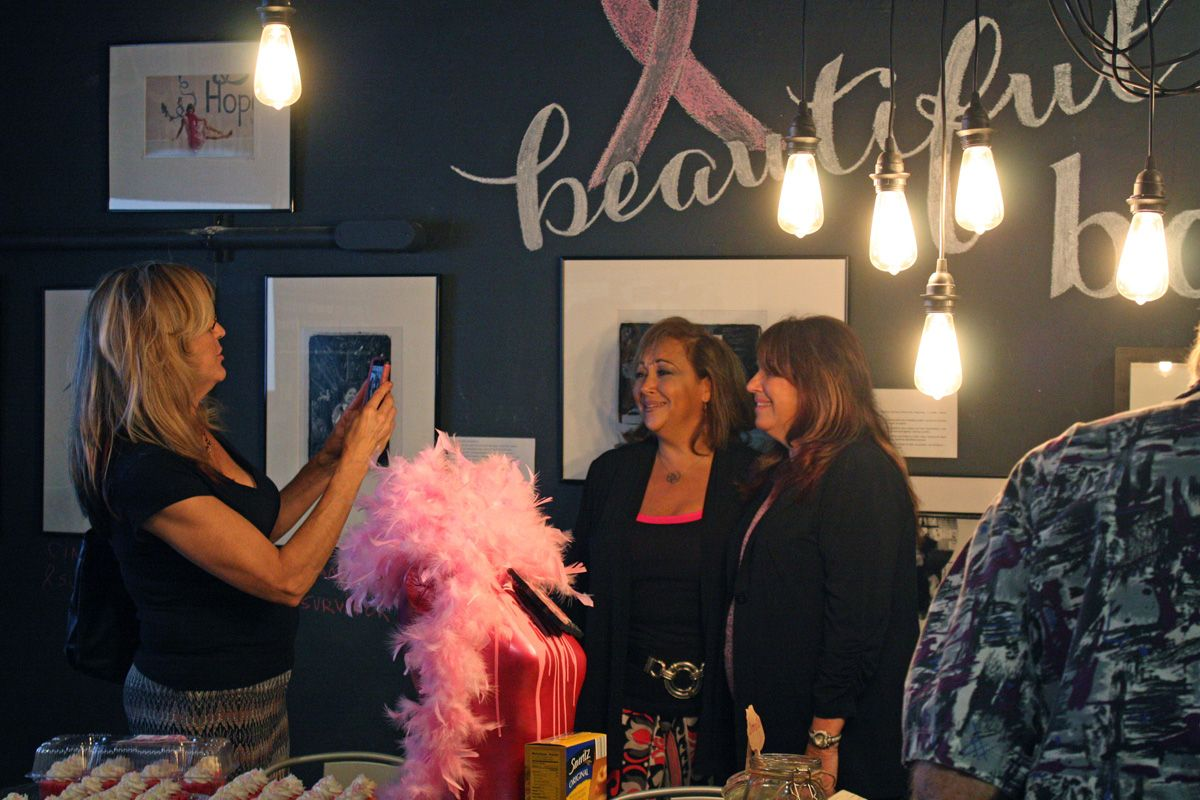 guests at the helium creative fundraiser for the Florida Breast Cancer Foundation