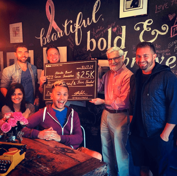 helium creative donates to the florida breast cancer foundation