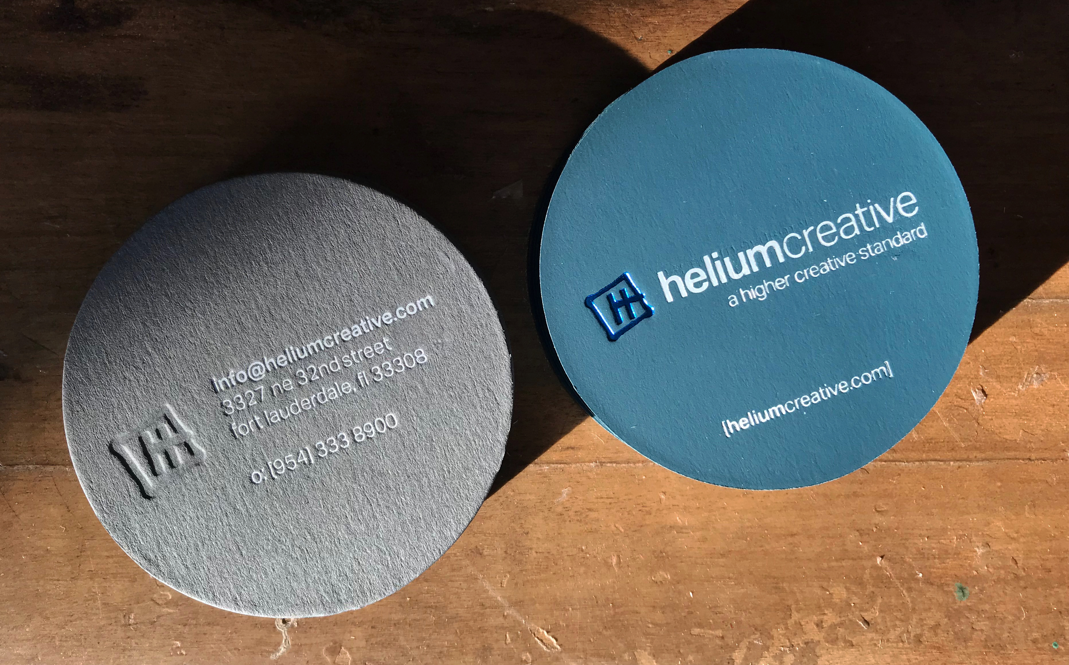 Our Business Cards Got a Brand New Look! | helium creative