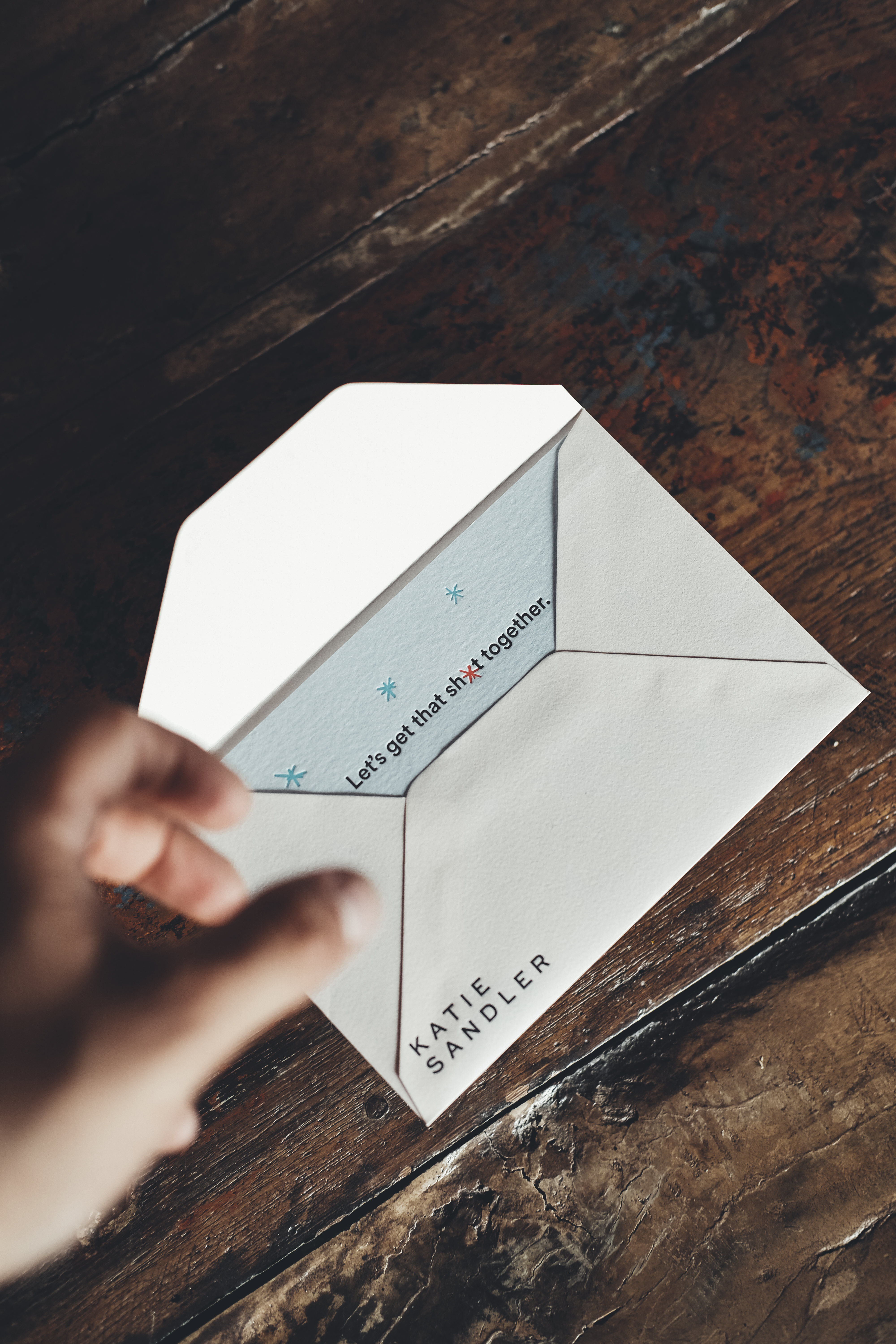 Envelope and notecard