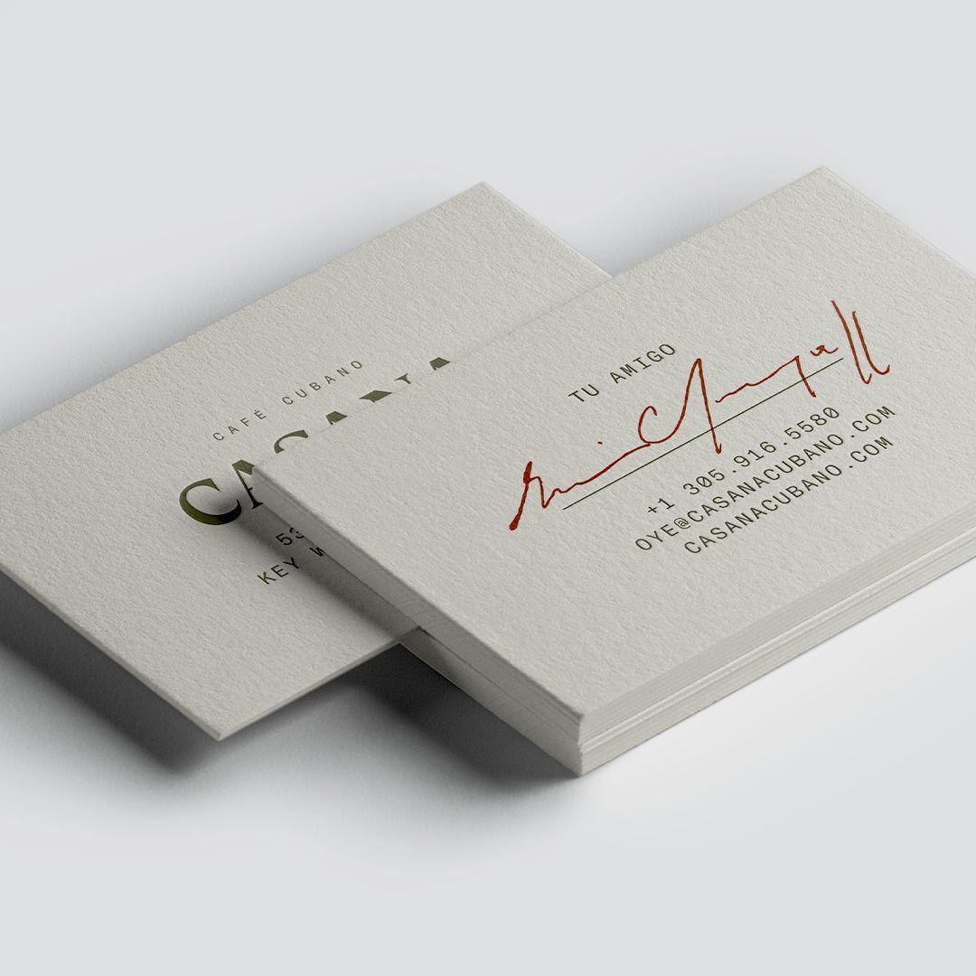 CASANA Business Cards